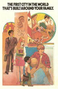 L'affiche publicitaire du Département de Logement et Développement Urbain de 1970