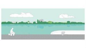 L'adaptation au risque inondation passe par la création de bâtiments sur pilotis et de grands espaces verts